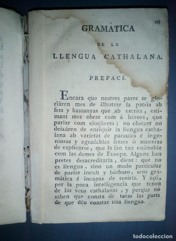 Libros antiguos: Gramática y apología de la Llengua Cathalana. D.Joseph Pau Ballot y Torres. 1814. Primera edició. - Foto 4 - 190166168