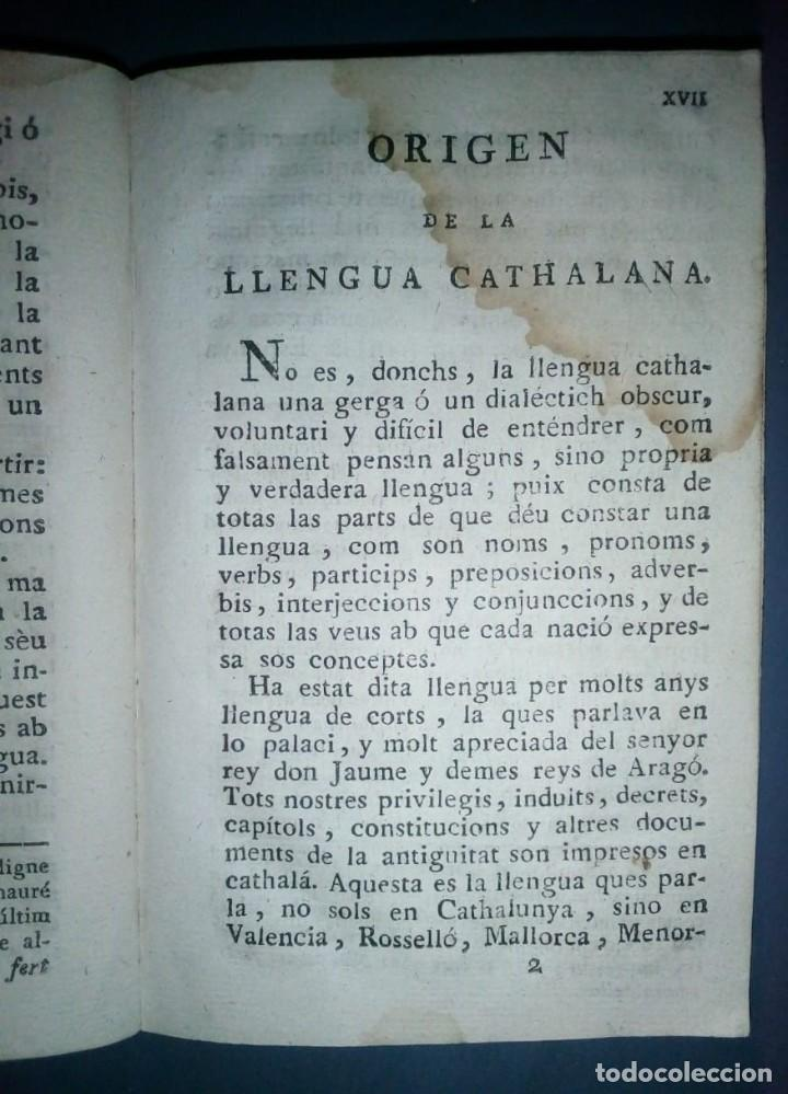 Libros antiguos: Gramática y apología de la Llengua Cathalana. D.Joseph Pau Ballot y Torres. 1814. Primera edició. - Foto 5 - 190166168
