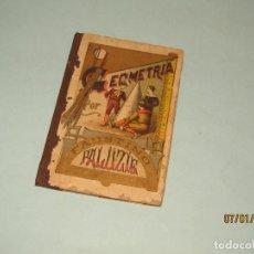 Libros antiguos: ANTIGUO LIBRO DE ESCUELA GEOMETRIA DE FAUSTINO PALUZIÉ DEL AÑO 1895. Lote 190198122