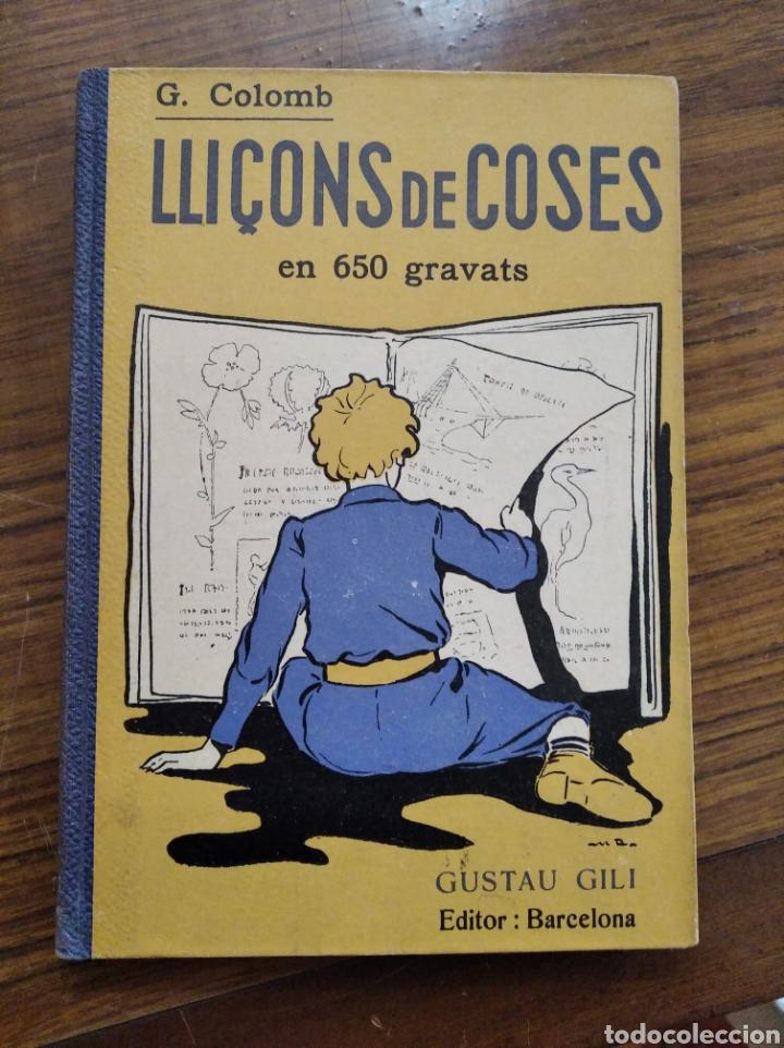 LIBRO LLIÇONS DE COSES EN 650 GRAVATS (Libros Antiguos, Raros y Curiosos - Libros de Texto y Escuela)