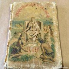 Libros antiguos: COMPLEMENTO DE LA EDUCACION ESCOLAR. LA LEY. SATURNINO CALLEJA 1893. VEAN FOTOS ADJUNTAS. Lote 190536305