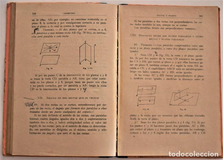 Libros antiguos: MATEMÁTICAS 2º CURSO - BACHILLERATO - AÑO 1935 - AMÓS SABRÁS GURREA - BARCELONA 1935 - Foto 4 - 190614672