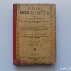 Libros antiguos: LIBRERIA GHOTICA. DALMAU PUJADAS. HIGIENE PROFILÁCTICA Y TERAPÉUTICA PARA USO DE ESCUELAS.1900. Lote 190636352