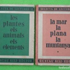 Libros antiguos: SELECTA DE LECTURES TOMO I Y II - ARTUR MARTORELL BISBALL - 1934 - GUSTAU GILI EDITOR - VER FOTOS. Lote 190641115