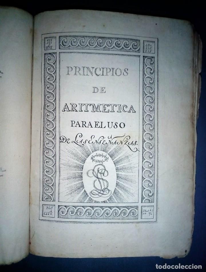 Libros antiguos: Principios de aritmética para el uso de las Señoritas Luisas de San Carlos. Libro manuscrito s.XVIII - Foto 5 - 191075011