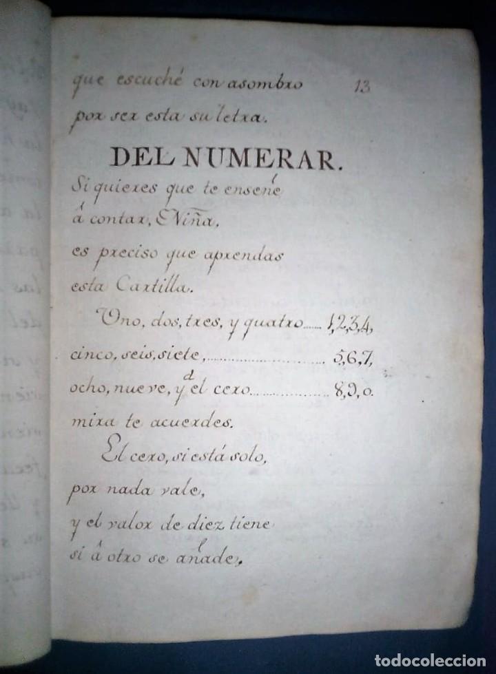 Libros antiguos: Principios de aritmética para el uso de las Señoritas Luisas de San Carlos. Libro manuscrito s.XVIII - Foto 14 - 191075011