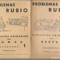 Livres anciens: LOTE DE 5 CUADERNOS DE PROBLEMAS RUBIO, EJERCICIOS PRIMARIOS DE MULTIPLICACIONES - DE 1.959. Lote 191439272