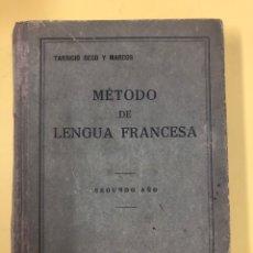Libros antiguos: METODO DE LENGUA FRANCESA, SEGUNDO AÑO - TARSICIO SECO Y MARCOS - SANTIAGO RGUEZ 1935. Lote 191731581