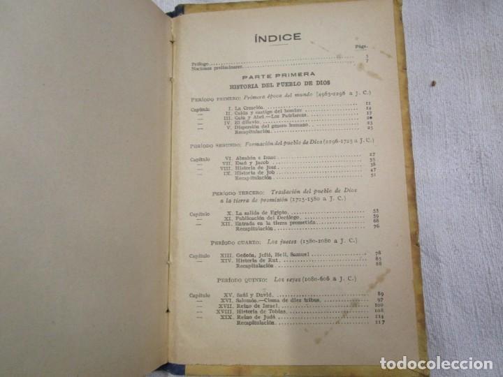Libros antiguos: ESCUELA - HISTORIA SAGRADA 2º GRADO - EDI LIB. CATOLICA BARCELONA 1918, ILUSTRADA + INFO - Foto 3 - 191922111