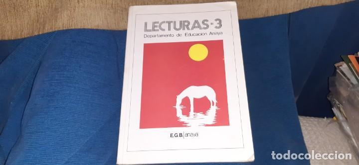 LIBRO DE TEXTO LENGUA LECTURAS 3 ANAYA EGB 1982. LEER (Libros Antiguos, Raros y Curiosos - Libros de Texto y Escuela)