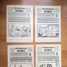 Libri antichi: LOTE 4 CUADERNOS PROBLEMAS RUBIO, AÑO 1977, N. 1; 2; 5 Y 6. Lote 193883432