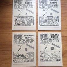 Libros antiguos: LOTE 4 CUADERNOS PROBLEMAS RUBIO; AÑO 1.978. N. 7, 8, 9 Y 10. Lote 193884278