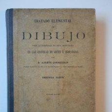 Libros antiguos: TRATADO ELEMENTAL DE DIBUJO. PARA LA ENSEÑANZA DE ESTA ASIGNATURA EN LAS ESCUELAS DE ARTES E INDUSTR. Lote 193986570