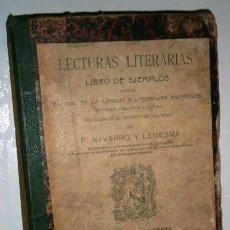 Libros antiguos: LECTURAS LITERARIAS POR F. NAVARRO Y LEDESMA DE PERLADO, PÁEZ Y CÍA. / SUCESORES DE HERNANDO 1905. Lote 194128086