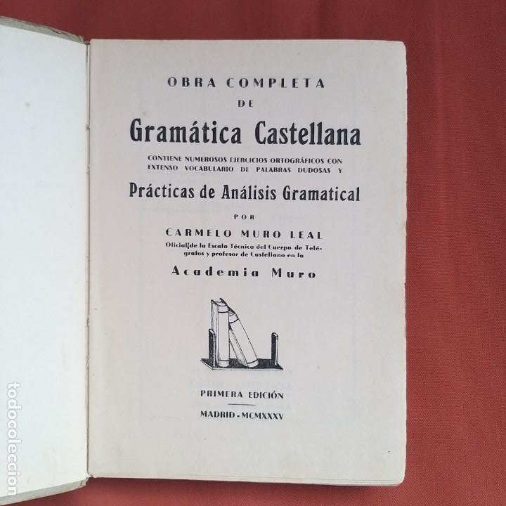 Libros antiguos: TRATADO DE LA LENGUA CASTELLANA 1935. - Foto 2 - 194217347