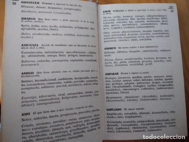 Libros antiguos: DICCIONARIO DE ANTÓNIMOS Y SINÓNIMOS. EDITORIAL RAMON SOPENA - Foto 3 - 194237663