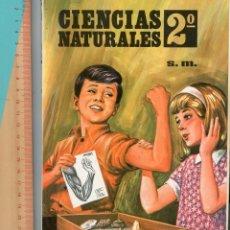 Libros antiguos: CIENCIAS NATURALES 2º, EDICIONES SM. ANATOMÍA HUMANA Y GEOLOGÍA. PLAN 1967.. Lote 194259793