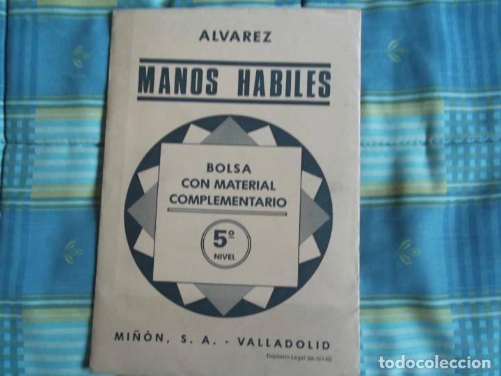 MANOS HABILES 5º .BOLSA CON MATERIAL--MIÑON ALVAREZ (Libros Antiguos, Raros y Curiosos - Libros de Texto y Escuela)