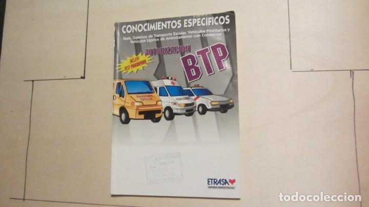 CONOCIMIENTOS ESPECIFICOS BTP 1998 (Libros Antiguos, Raros y Curiosos - Libros de Texto y Escuela)