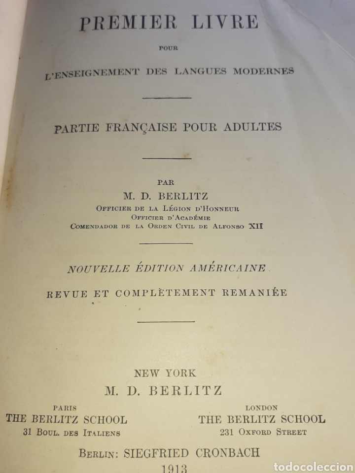Libros antiguos: Premier Livre - Foto 2 - 194488253