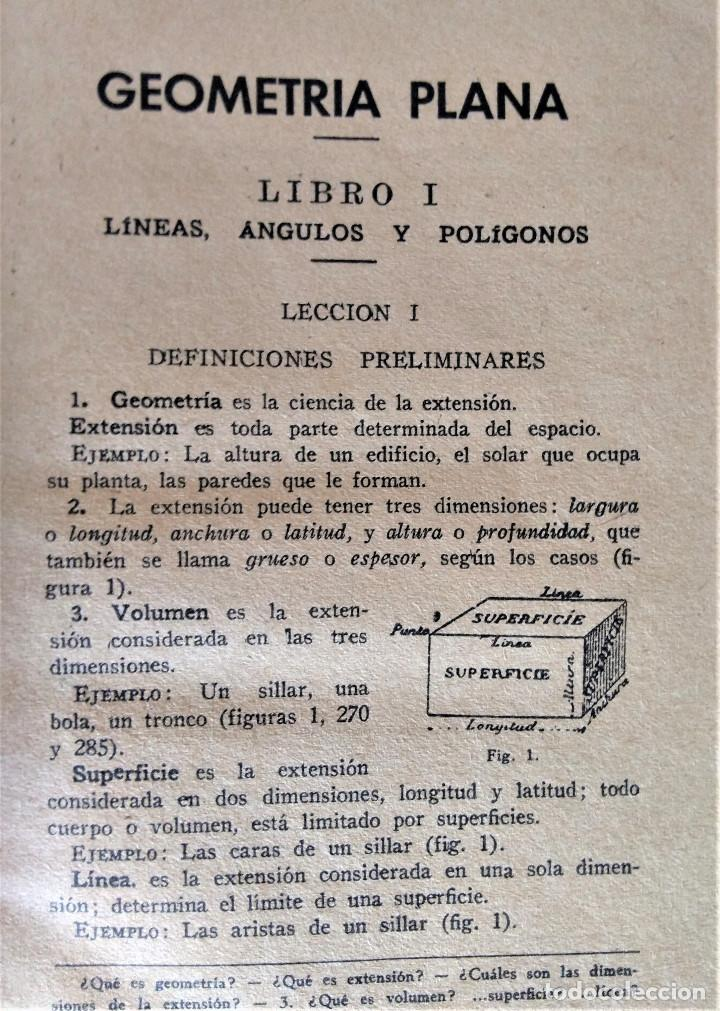 Libros antiguos: LECCIONES ELEMENTALES DE GEOMETRIA - TERCER GRADO - EDICIONES BRUÑO - Foto 4 - 194508531