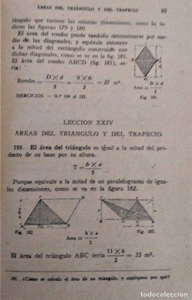 Libros antiguos: LECCIONES ELEMENTALES DE GEOMETRIA - TERCER GRADO - EDICIONES BRUÑO - Foto 5 - 194508531