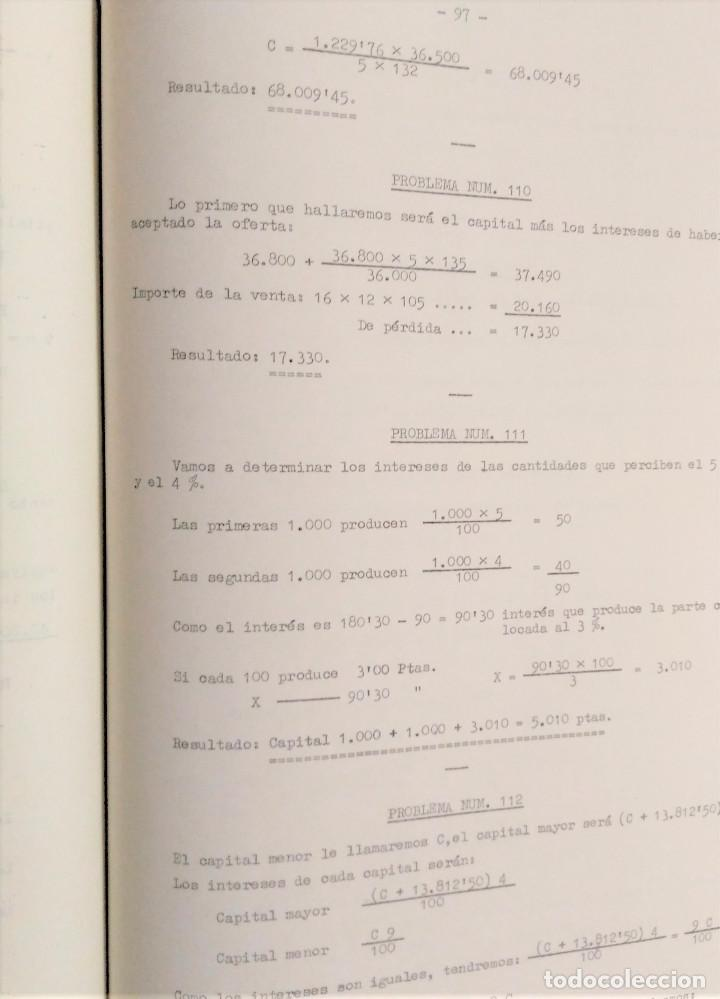 Libros antiguos: Lecciones de aritmética y colección de problemas para oposiciones a Auxiliar del I.N.P. - Foto 4 - 194774715
