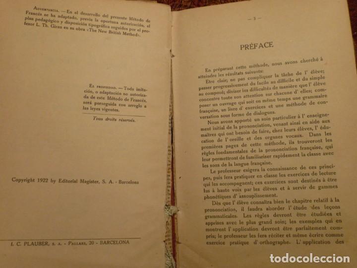 Libros antiguos: Rebé. H. Thierry. Método de francés. Libro primero. Año 1922. 288 pags. Tapa dura. - Foto 2 - 194780445