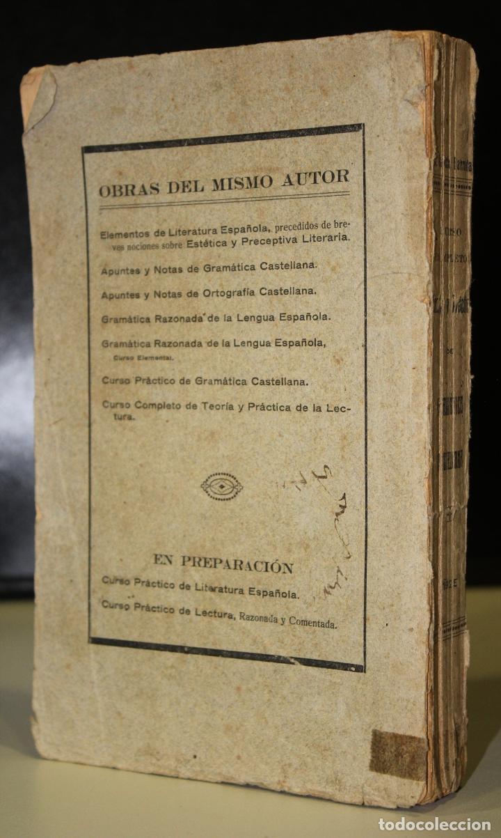 Libros antiguos: Curso completo. Teoría y práctica de gramática castellana. - Foto 2 - 195087896