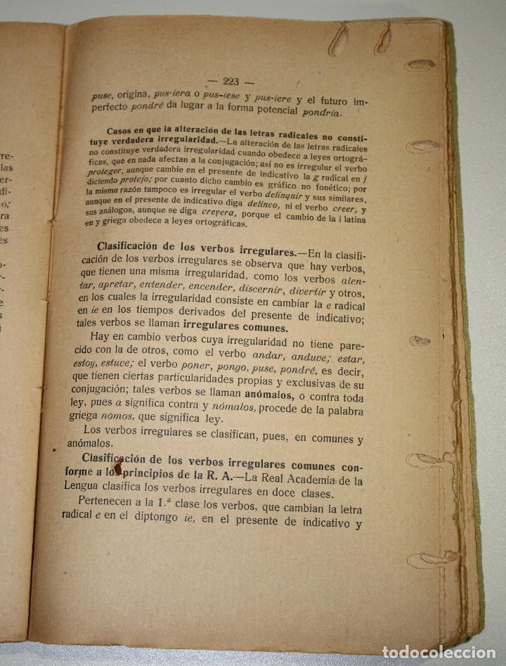 Libros antiguos: Curso completo. Teoría y práctica de gramática castellana. - Foto 3 - 195087896
