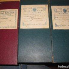 Libros antiguos: 3 CARTILLA ESCOLAR COLEGIO BALMES DE LAS ESCUELAS PIAS BARCELONA 1925 27 CALIFICACIONES. Lote 195148538