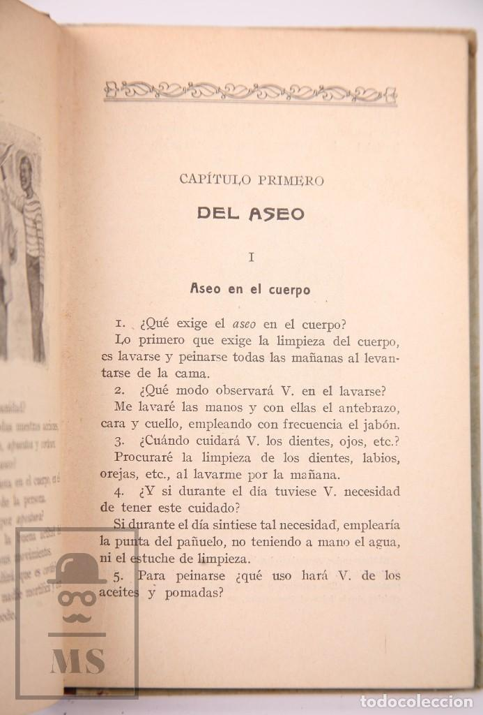 Libros antiguos: Libro de Escuela - Elementos de Urbanidad, Segundo Grado. P. Salvador Riba - Imp. Ezelviriana, 1915 - Foto 4 - 195183882