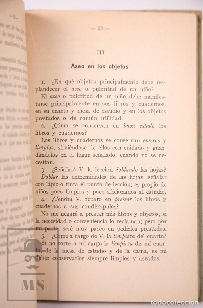 Libros antiguos: Libro de Escuela - Elementos de Urbanidad, Segundo Grado. P. Salvador Riba - Imp. Ezelviriana, 1915 - Foto 5 - 195183882