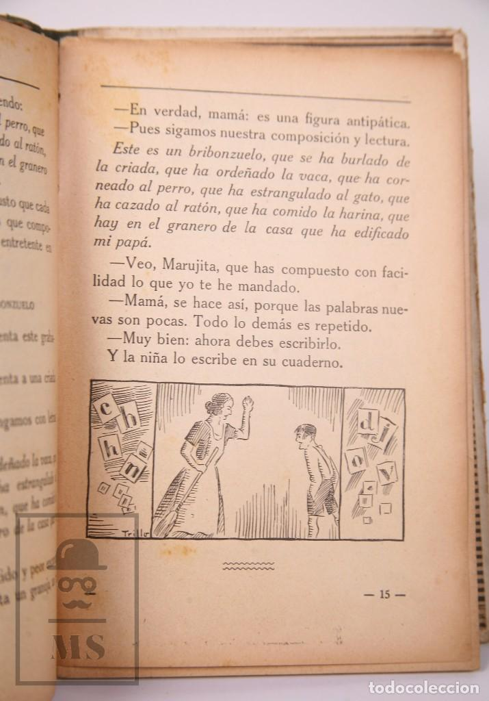 Libros antiguos: Libro de Escuela - Yo Quiero Saber Leer. Primer Libro de Lectura. Ezequiel Soler -Magisterio Español - Foto 6 - 195185131