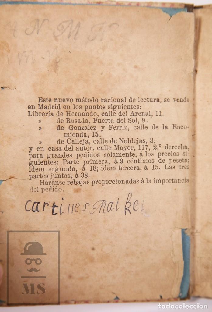 Libros antiguos: Antiguo Libro de Texto - Nuevo Método Racional de Lectura. José María Florez - Madrid, 1886 - Foto 5 - 195260071