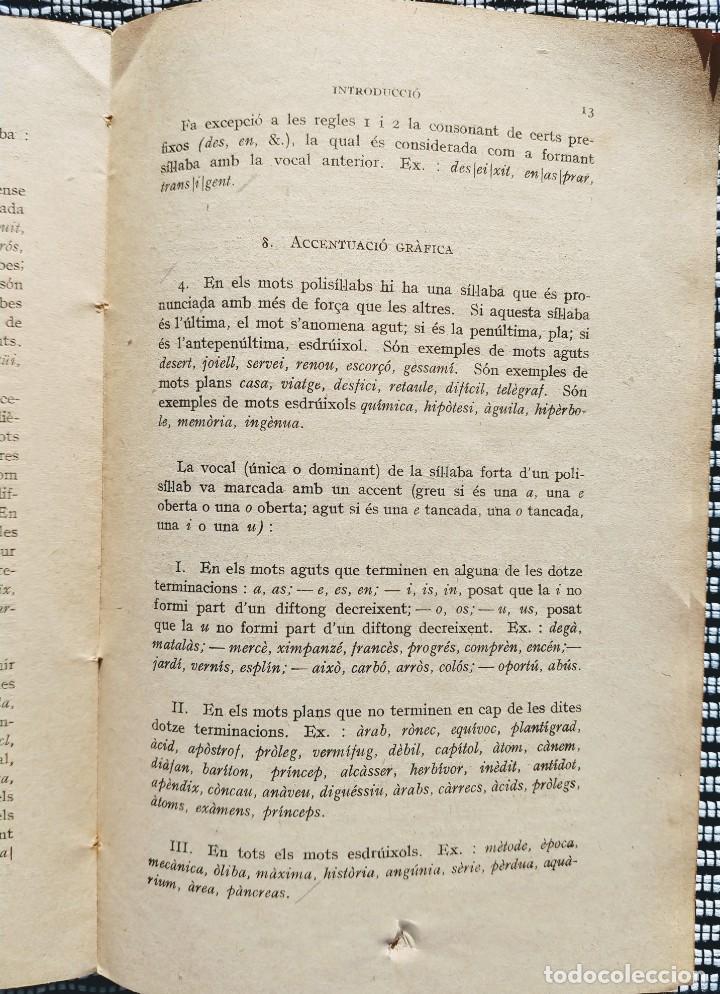 Libros antiguos: POMPEU FABRA (1931) GRAMÀTICA CATALANA (Institut dEstudis Catalans - 6ª Ed.) - Foto 2 - 195302445