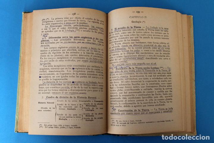 Libros antiguos: Libro Grado Superior - Elementos de Ciencias Fisico-Naturales - Joaquin Pla - 1919 - 1º Ed - Foto 5 - 195342935