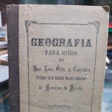 Libros antiguos: LIBRO ESCOLAR COLEGIO GEOGRAFIA LUIS ORTS IMPRENTA VELAZQUEZ CARTAGENA MURCIA 1890. Lote 195500690