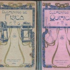 Libros antiguos: ELEMENTOS DE FÍSICA Y DE QUÍMICA (F. T. D., 1920) - DOS TOMOS. Lote 196325133