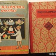 Libros antiguos: ENCICLOPEDIA ESCOLAR MIS TERCEROS PASOS 1º GRADO - ENCICLOPEDIA ESCOLAR EDELVIVES 2º GRADO. Lote 209333290