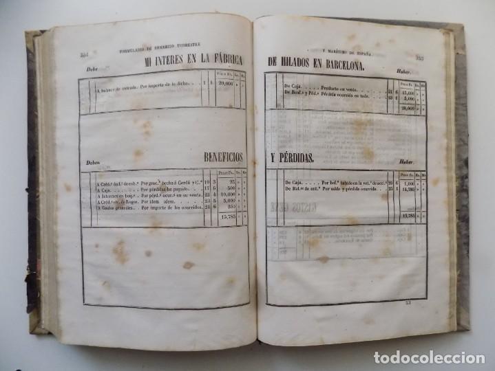 Libros antiguos: LIBRERIA GHOTICA. SERRADORA Y ALTÉS.FORMULARIO DE COMERCIO TERRESTRE Y MARÍTIMO DE ESPAÑA.1855.FOLIO - Foto 4 - 197921031