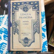 Libros antiguos: LIBRO DE LENGUA FRANCESA 1927. Lote 198543471