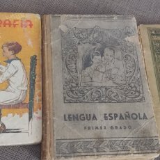 Libros antiguos: LOTE DE 3 LIBROS ESCOLARES PRINCIPIOS SIGLO PASADO. Lote 199208521