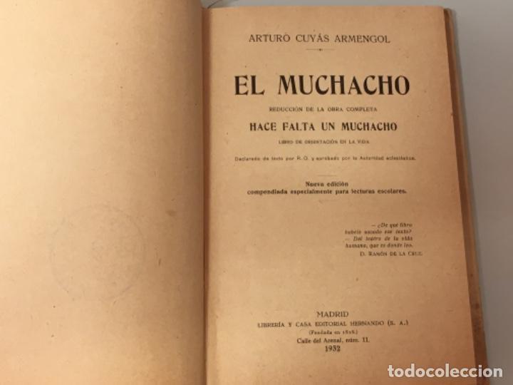 Libros antiguos: El muchacho ed Hernando 1932 - Foto 3 - 200003218