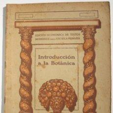 Libros antiguos: INTRODUCCIÓN A LA BOTÁNICA. Lote 200356656