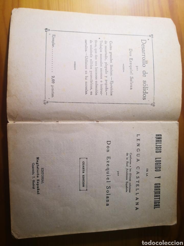 Libros antiguos: Análisis Lógico y Gramátical de la Lengua Castellana, Ezequiel Solana - Foto 2 - 203012371