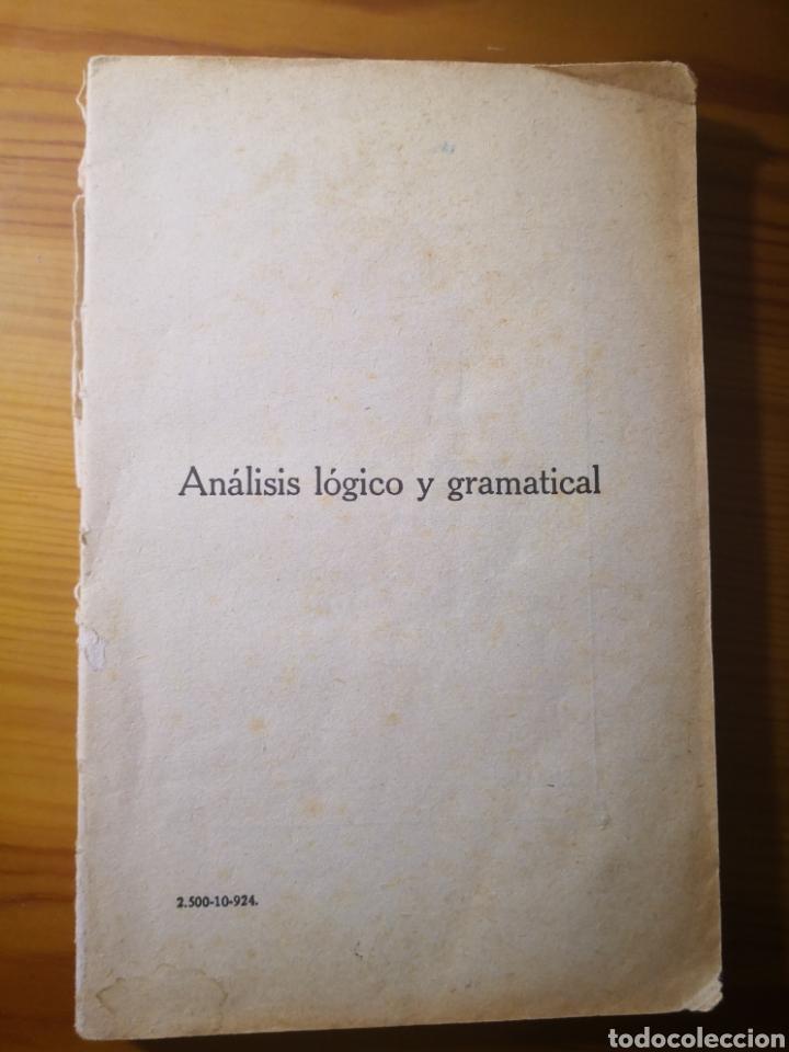 ANÁLISIS LÓGICO Y GRAMÁTICAL DE LA LENGUA CASTELLANA, EZEQUIEL SOLANA (Libros Antiguos, Raros y Curiosos - Libros de Texto y Escuela)