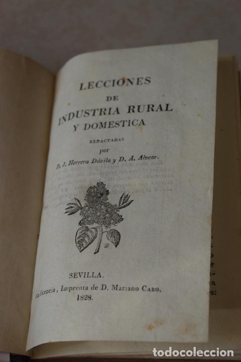 LECCIONES DE INDUSTRIA RURAL Y DOMESTICA 1828 (Libros Antiguos, Raros y Curiosos - Libros de Texto y Escuela)