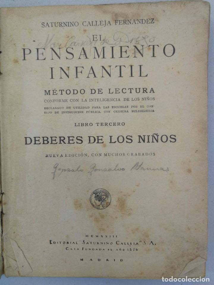 Libros antiguos: CURIOSO E INTERESANTISIMO LIBRO - DEBERES DE LOS NIÑOS - EL PENSAMIENTO INFANTIL - 1923 - EDITORIAL - Foto 2 - 203828300
