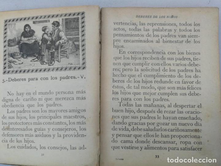 Libros antiguos: CURIOSO E INTERESANTISIMO LIBRO - DEBERES DE LOS NIÑOS - EL PENSAMIENTO INFANTIL - 1923 - EDITORIAL - Foto 4 - 203828300